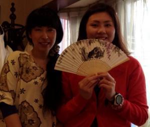 201203 扇子 墨彩 牛
