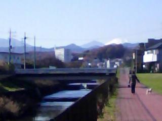 正面の富士