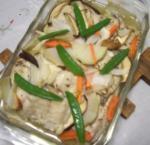 鯵と野菜のオーブン焼き