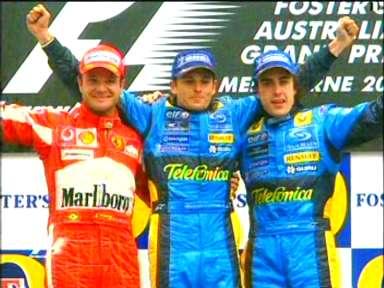 F1 Australia Podium