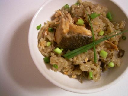秋鮭とマイタケの炊き込みご飯