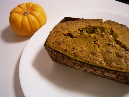 チョコレート入りカボチャのバターケーキ