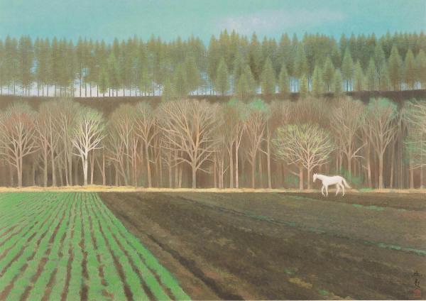 春を呼ぶ丘(東山魁夷)