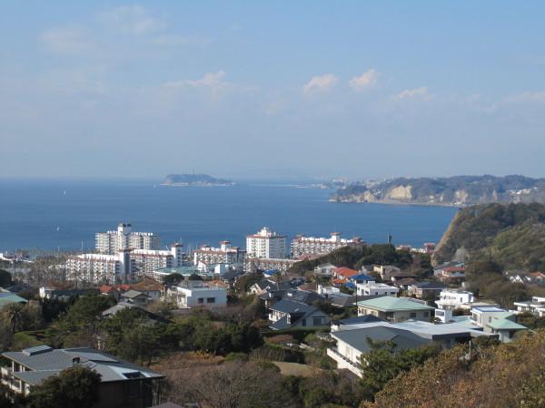 披露山公園からの湘南の海