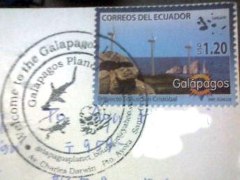 ガラパゴスの切手と消印
