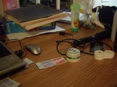 dirty desk