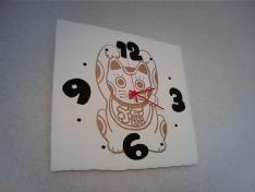 1114招き猫時計