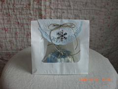 プレゼント用ラッピングブルー15