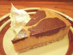 キャラメルとチョコのチーズケーキ