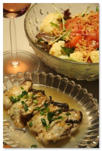 牡蠣のガーリックバター焼き