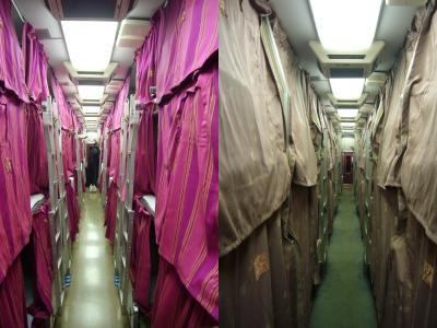 夜行急行「きたぐに」(左側:B寝台、右側:A寝台)