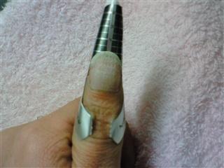 爪の補修②