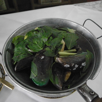 ムール貝の蒸し物