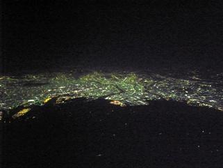 東京夜景上空より