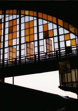 駅舎ホーム側窓