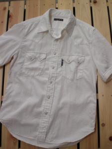 ホワイトデニム 半袖ウエスタンシャツ