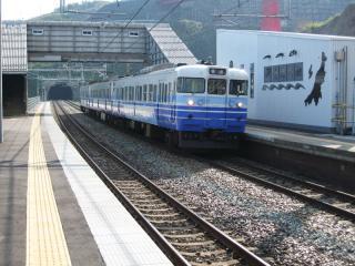 青海川駅にて