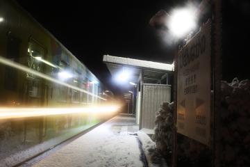 肥前長野駅・雪(1)