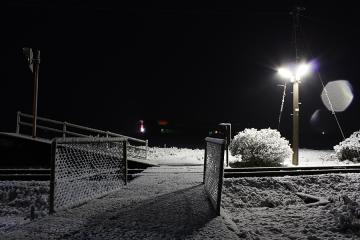肥前長野駅・雪(4)