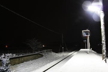 肥前長野駅・雪(6)