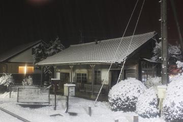 肥前長野駅・雪(7)