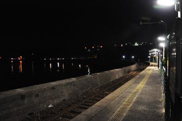 千綿駅の夜(7)