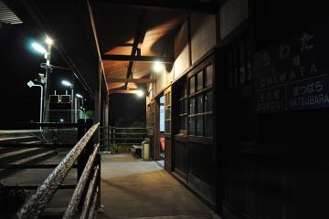 千綿駅の夜(9)