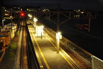 小長井駅・夜(1)