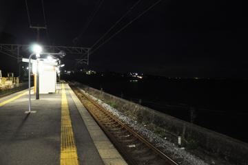 小長井駅・夜(3)