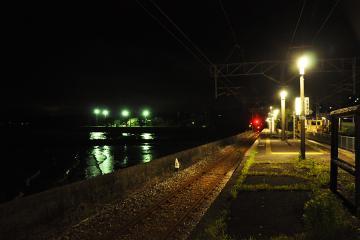 小長井駅・夜(4)