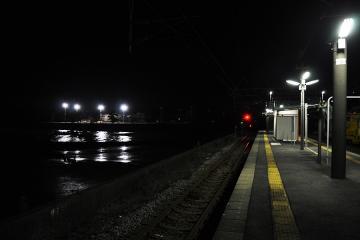 小長井駅・夜(6)