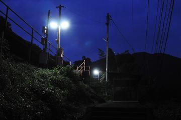 黄昏の長谷駅(1)