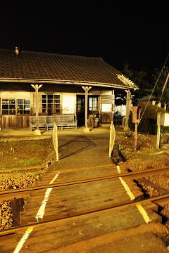 肥前長野駅の夜(1)