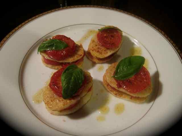 山芋とトマトのミルフィーユ