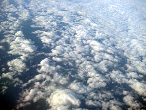 飛行機から 雲