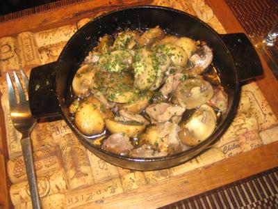 マッシュルームと砂肝のオイル煮