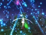 空から花火①