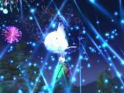 空から花火④