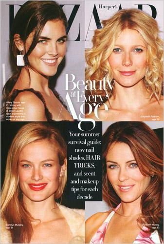 Harper's Bazaar Sensuous models cover
