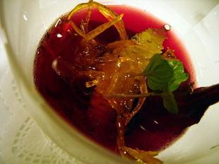 洋梨の赤ワイン煮