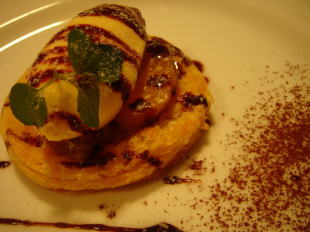 栗と柿のパイ