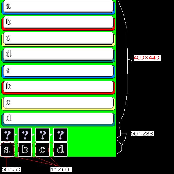 順番当てのボタンの説明