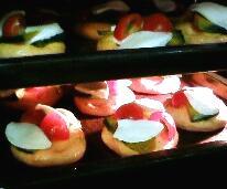 トマトフォカッチャ 野菜のせ