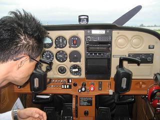 飛行機の中