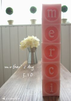 merci candle- pink