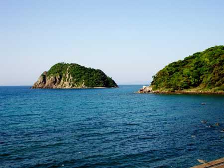 片浦の小島