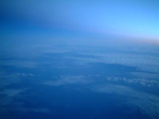 アイスランド上空