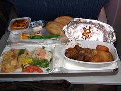 アルジェリア航空機内食