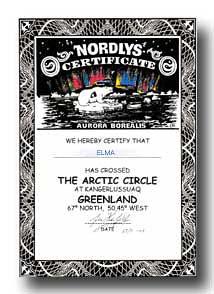 北極圏通過証明書