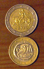 エウロパとフクロウ(ユーロ硬貨)